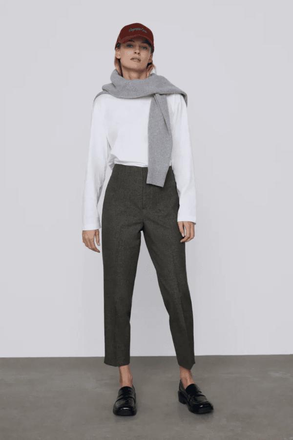 Rebajas ZARA invierno 2021 pantalones modern high
