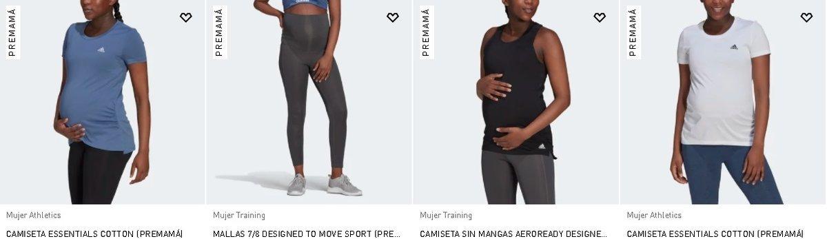 Camisetas y mallas premamá de Adidas