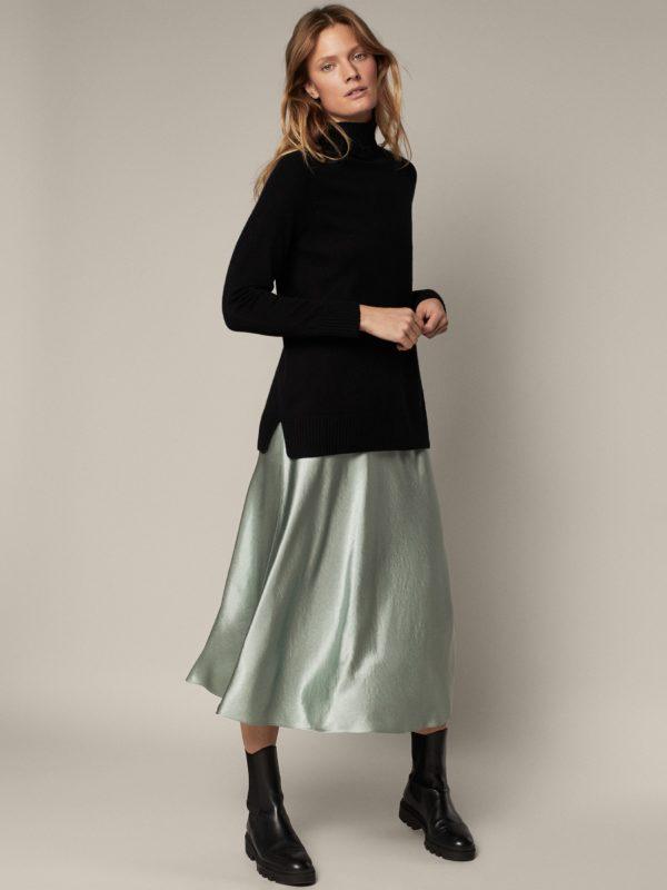 Que es el estilo partleisure look massimo dutti falda acabado metalico