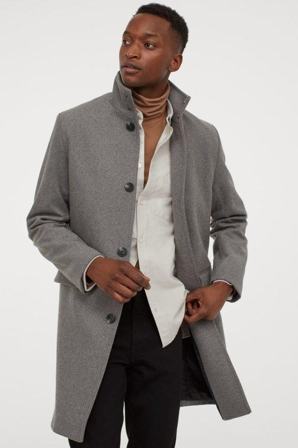 Rebajas H&M invierno 2021 abrigo gris