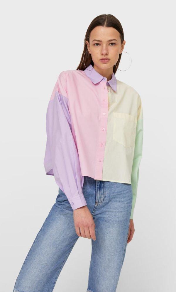 REBAJAS STRADIVARIUS primavera verano 2021 camisa colores