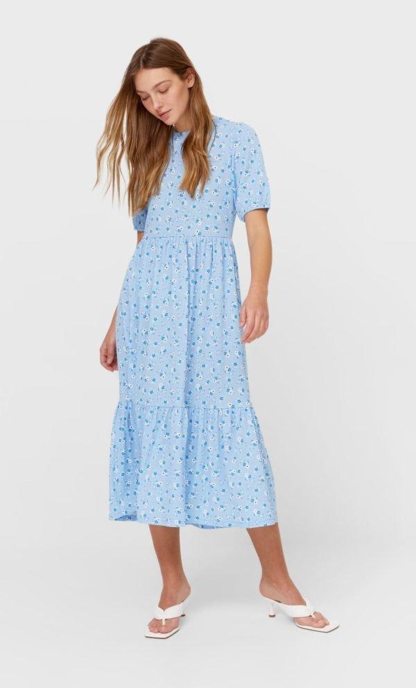 REBAJAS STRADIVARIUS primavera verano 2021 vestido midi azul