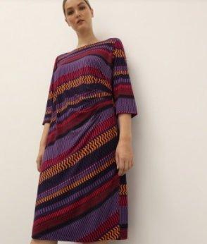 Vestido midi fruncido Couchel Collection