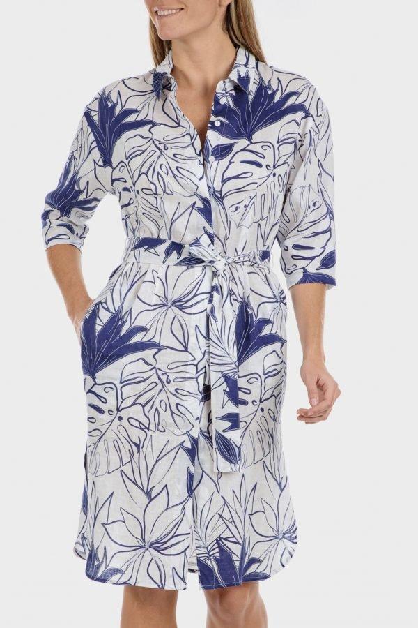 Catalago verano punto roma vestido lino camisero