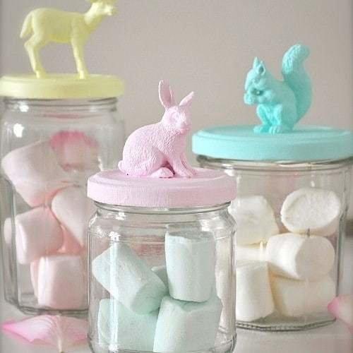 Frascos de cristal de animales para gominolas