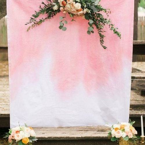 Espacio para photocall en rosa