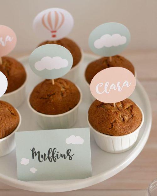 Muffins decorados con nombre