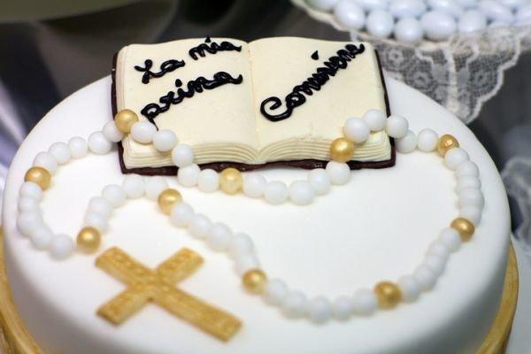 Decoracion de comunion tarta
