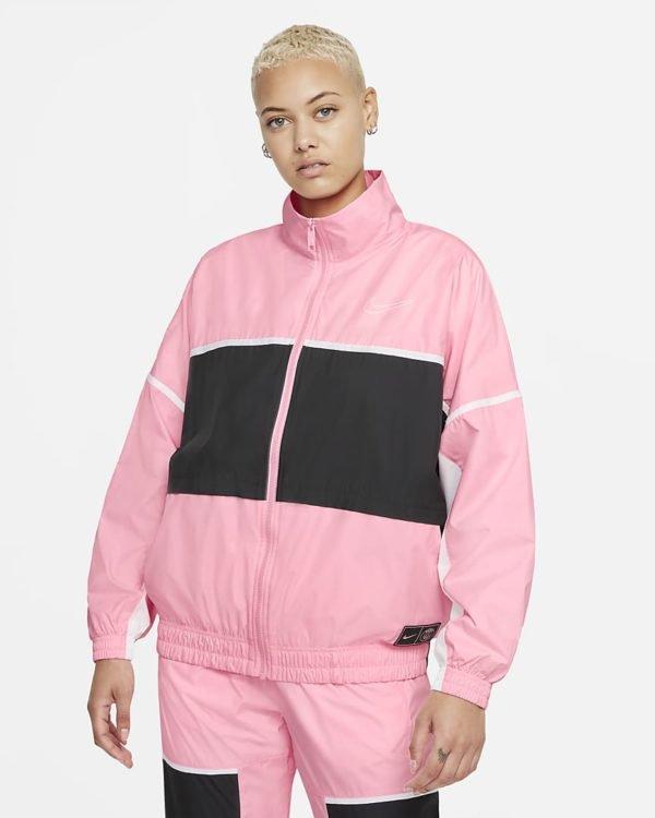 Catalogo nike para mujer otoño invierno 2021 2022 chaqueta rosa