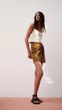 Falda mini cut out Zara