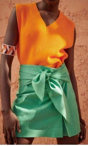 Falda mini lazo Zara