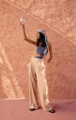 Pantalón ancho masculino Zara Mujer