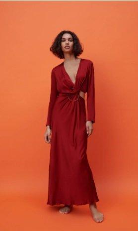 Vestido rojo Zara 2021