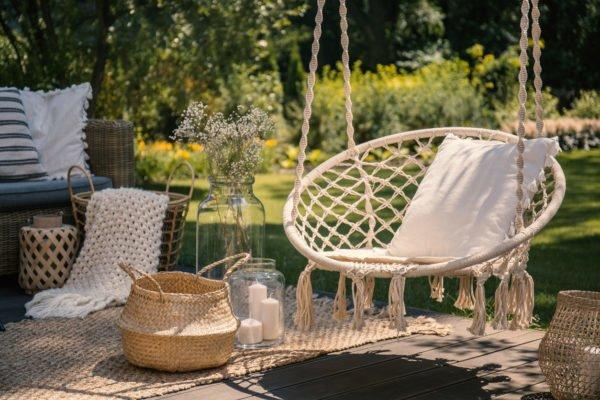 Como crear una zona chill out para jardin terraza patio balcon columpio