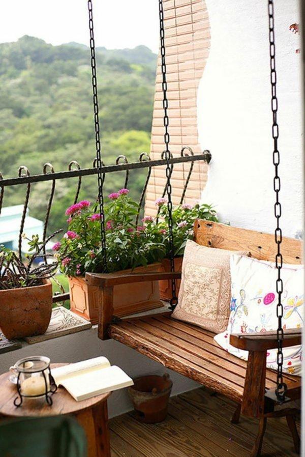 Como crear zona chill out balcon columpio