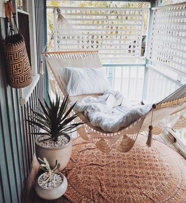 Como crear zona chill out balcon hamaca