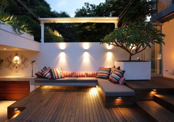 Como crear zona chill out balcon luces lamparas