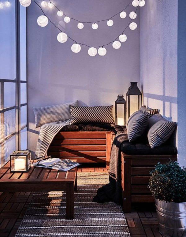 Como crear zona chill out balcon luces led madera