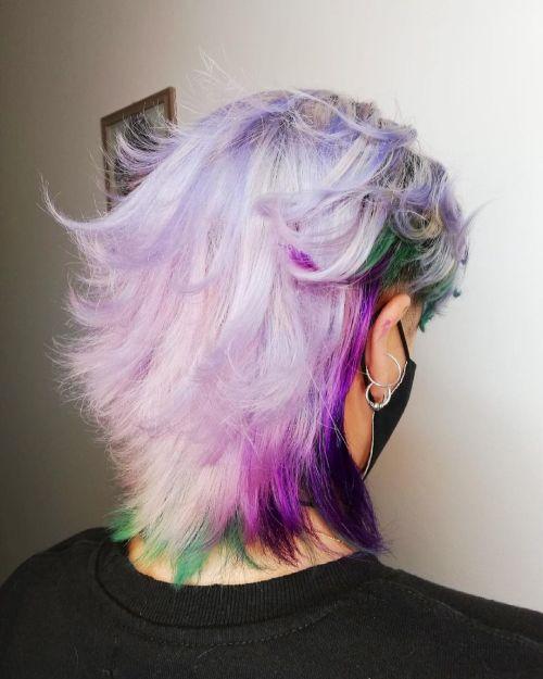 Corte de pelo Mullet fantasía