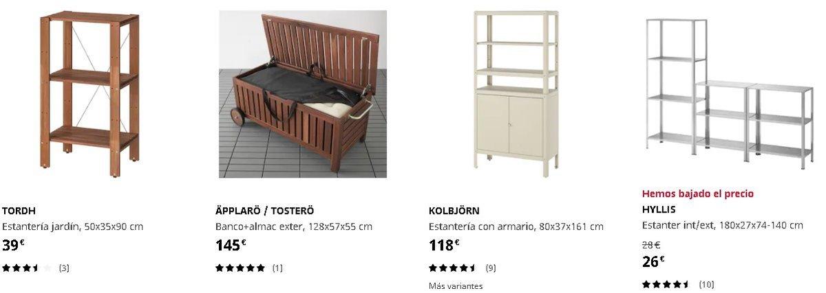 Armarios y estanterías de exterior Ikea