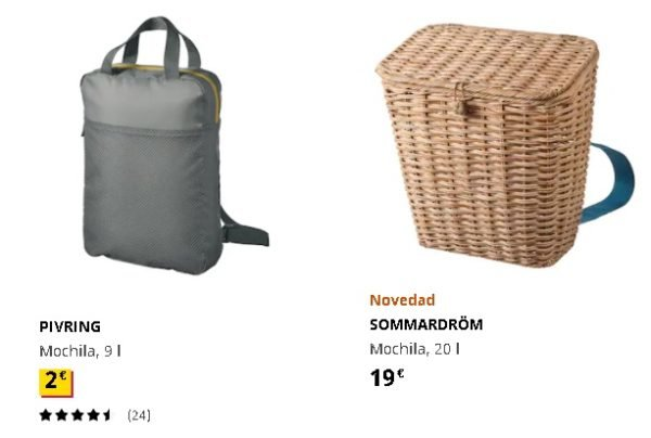 Mochilas picnis Ikea