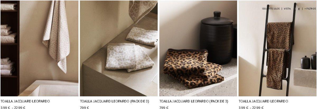 Toallas jacquard Zara Home