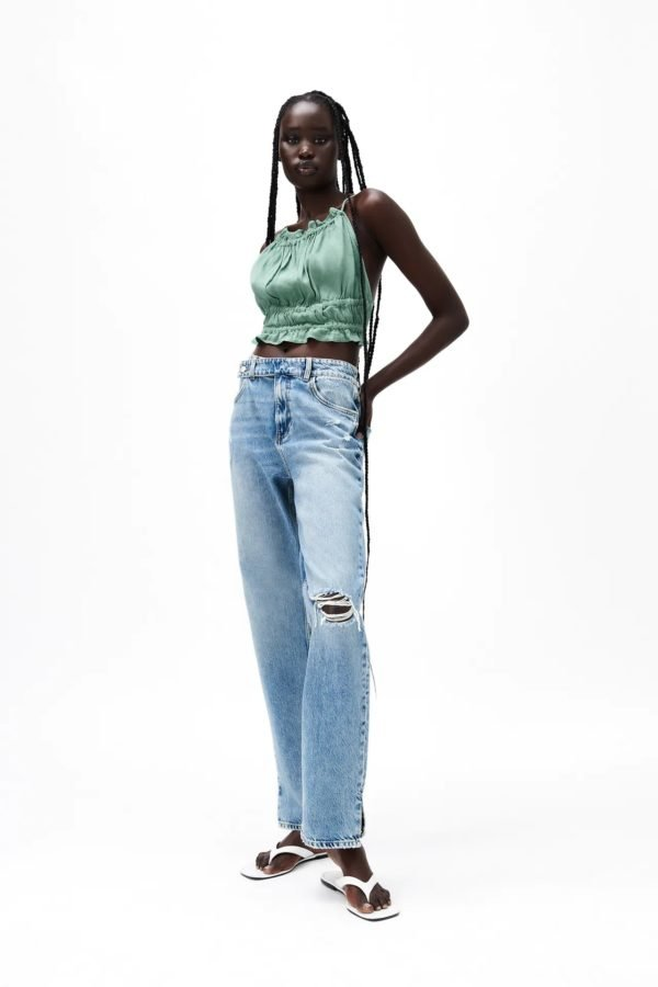 Rebajas zara verano 2021 jeans mid rise straight