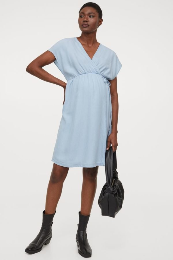 Vestidos de fiesta cortos vestido H&M cruzado azul
