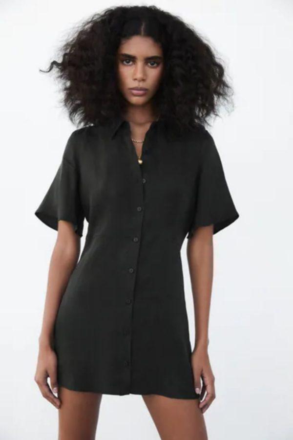 Vestidos de fiesta cortos vestido ZARA negro estilo polo