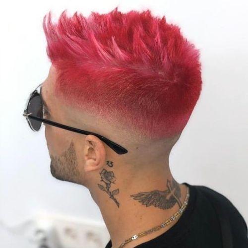 Corte de pelo para hombres degradado rojo