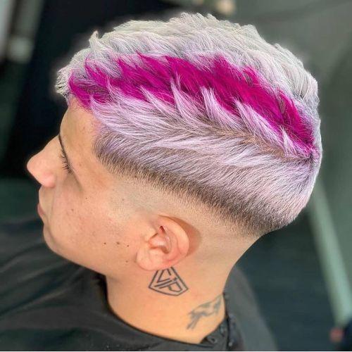 Corte de pelo degradado en dos tonos hombre
