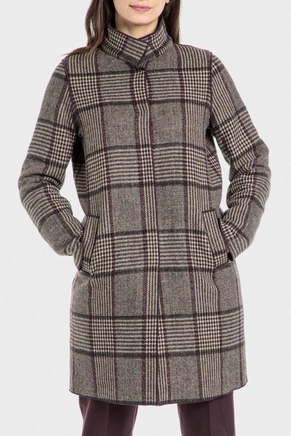 Catalogo punto roma otoño invierno 2021 2022 abrigo cuadros