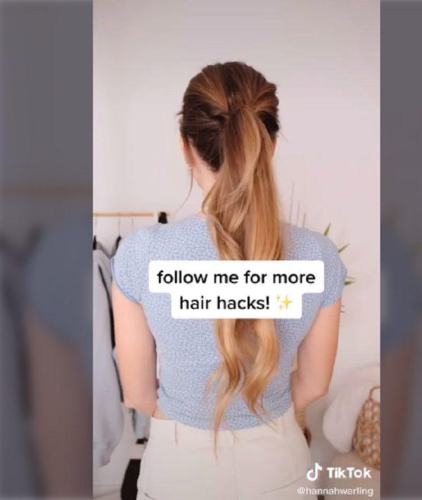 Peinados tik tok recogido coleta alta