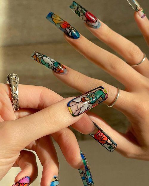 Uñas art nails estilo vidrio