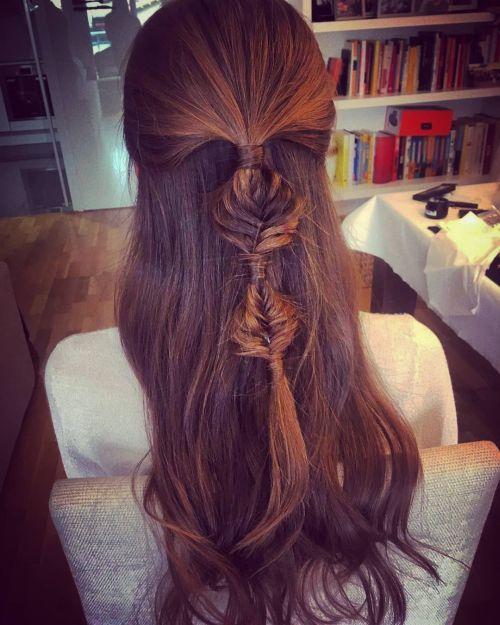 Peinado con trenza sin goma