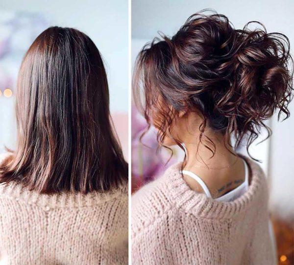 Peinados para dejar crecerte el pelo recogido con ondas