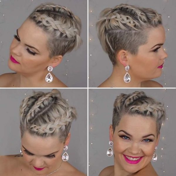 Peinados para dejar crecerte el pelo trenzas en un pelo corto