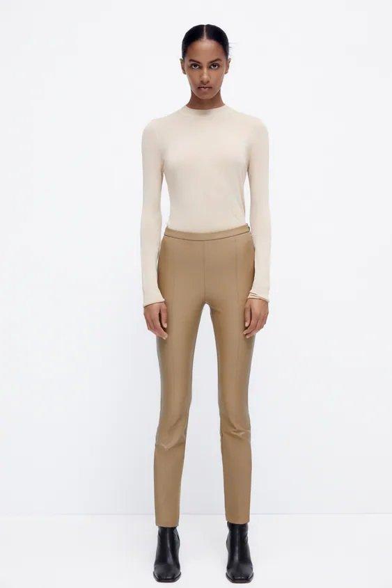 CATALOGO ZARA otoño invierno 2021 2022 pantalon leggings