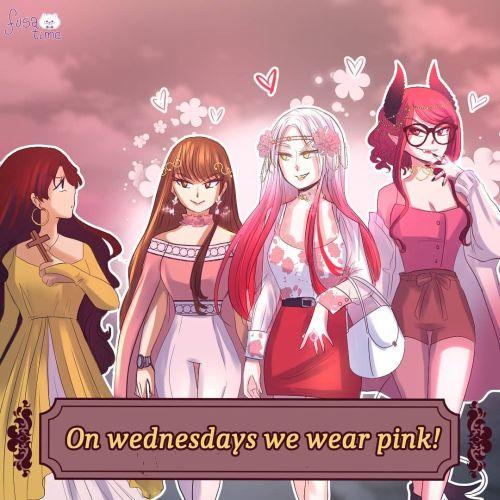 Chica que visten de rosa los miércoles, comic
