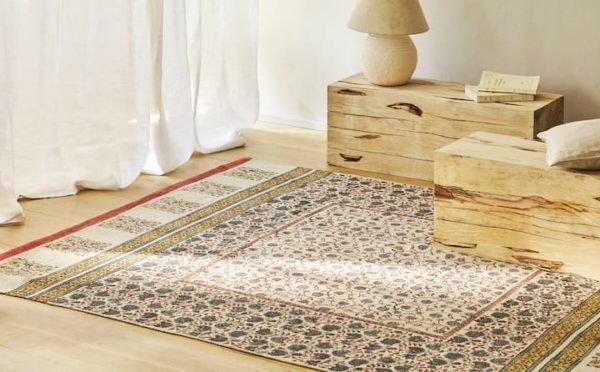 Rebajas zara home verano 2021 alfombra block print