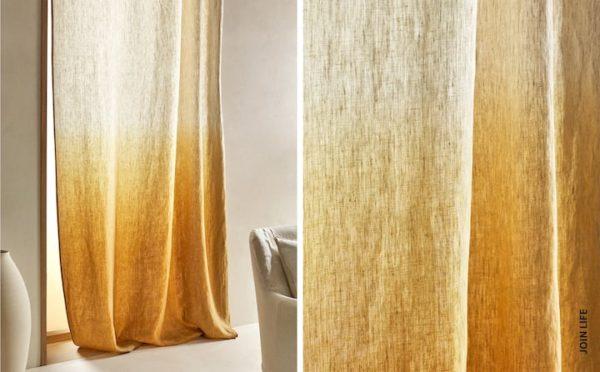 Rebajas zara home verano 2021 cortina degradada