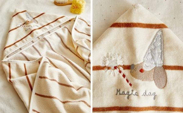 Zara home kids otoño invierno 2021 2022 toalla capucha