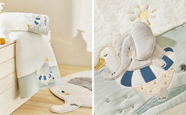 Zara home kids otoño invierno 2021 2022 toalla elefantes