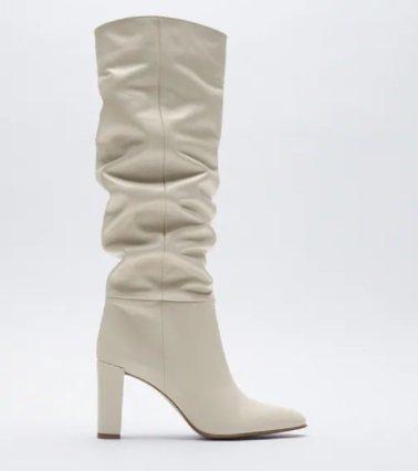 Botas altas con tacón ancho Zara