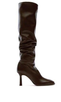 Botas altas de tacón Zara