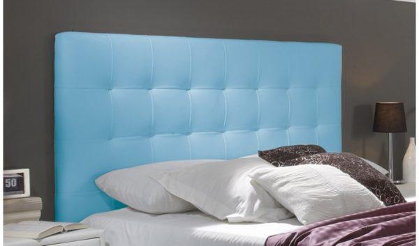 Catalogo de muebles rey cabecero tapizado azul