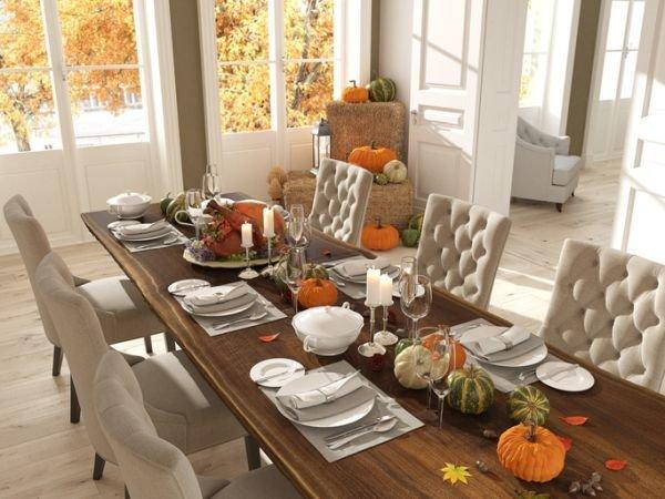 Como decorar una mesa de accion de gracias