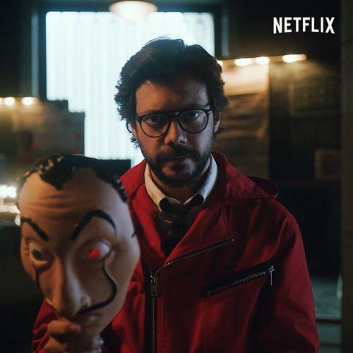 Escena de La casa de papel Netflix