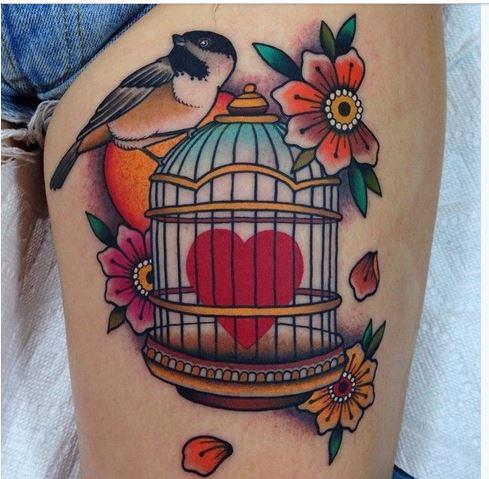 Tatuaje de corazones