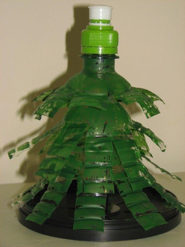hacer-un-arbol-con-botellas-de-plastico